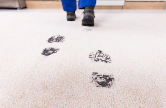 Dirty Boot Trails on Carpet